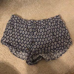 flowery summer cloth shorts